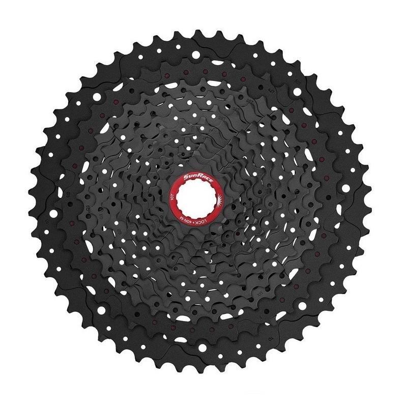 SUNRACE - Pacco pignoni CSMZ91X steel/ergal 10-50T 12v Black per Sram XD 567g